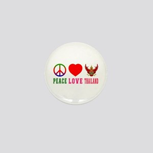 Peace Love Thailand Mini Button