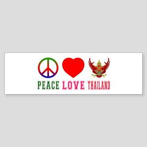 Peace Love Thailand Sticker (Bumper)