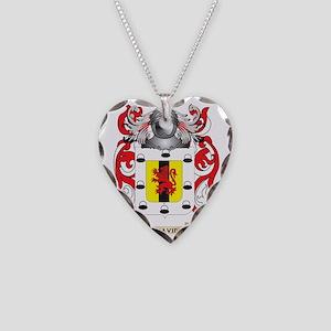 Benavides Coat of Arms Necklace Heart Charm