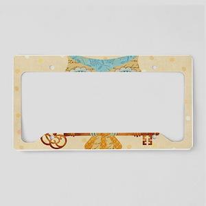 Owl's Summer Love Letters License Plate Holder