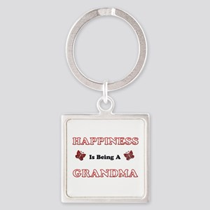 Happiness Is Being A Grandma Keychains