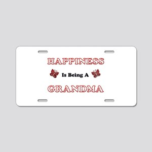 Happiness Is Being A Grandm Aluminum License Plate