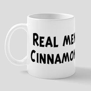 Men eat Cinnamon Roll Mug