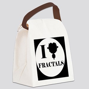 fractalsbutton Canvas Lunch Bag