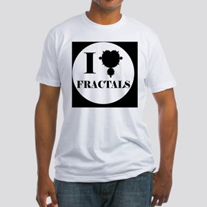 fractalsbutton Fitted T-Shirt