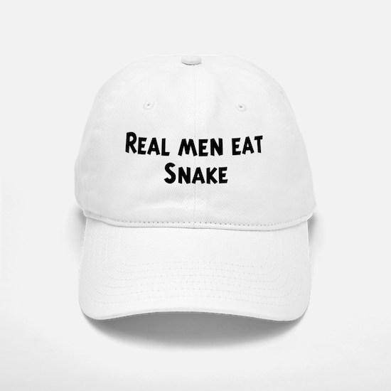 Men eat Snake Baseball Baseball Cap