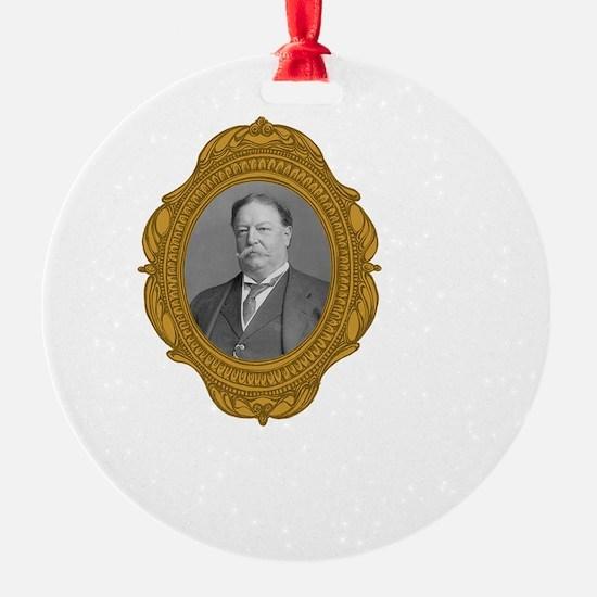 William Taft White Ornament