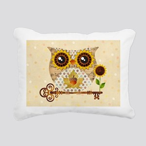 Owls Autumn Song Rectangular Canvas Pillow