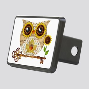 Owls Autumn Song Rectangular Hitch Cover