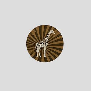 Retro Giraffe  Mini Button