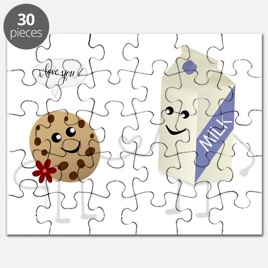 Cute Love - Milk and Cookie Puzzle