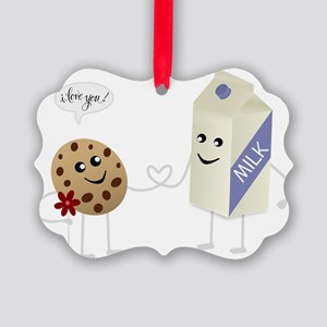 Cute Love - Milk and Cookie Picture Ornament