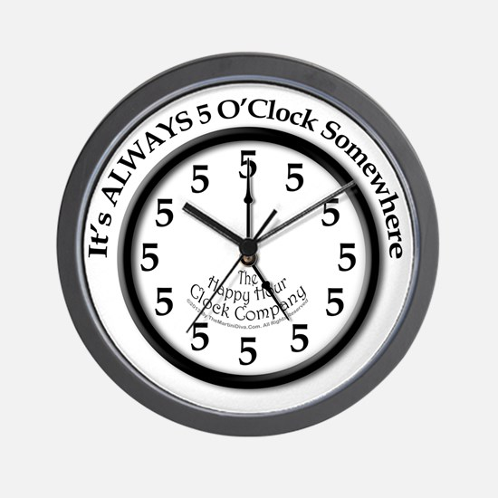 Always5oClodkArt Wall Clock