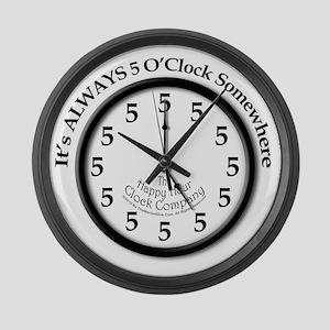 Always5oClodkArt Large Wall Clock