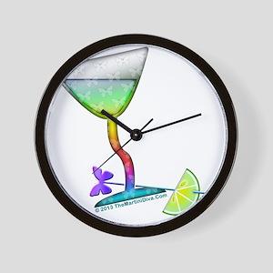 BUTTERFLY MARTINI ART Wall Clock