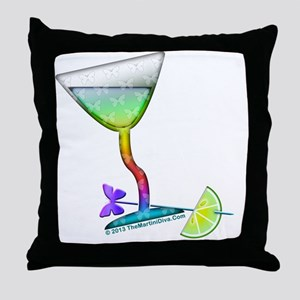 BUTTERFLY MARTINI ART Throw Pillow