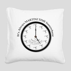 AlwaysMartiniTime Square Canvas Pillow