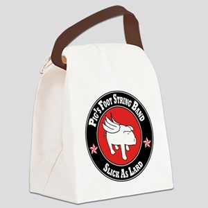 Pigs Foot String Band - White Pig Canvas Lunch Bag