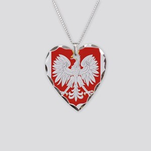 Polish Eagle Necklace Heart Charm