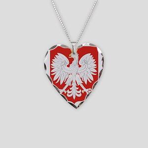 Polish Eagle Necklace Heart Charm