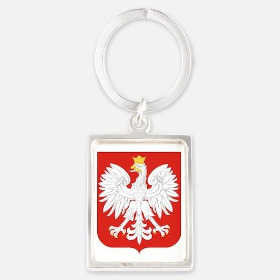 Polish Eagle Portrait Keychain