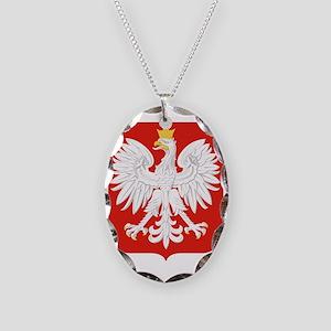 Polish Eagle Necklace Oval Charm