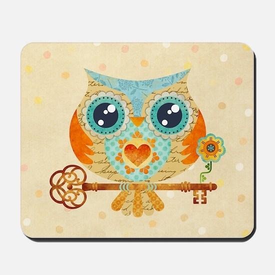 Owls Summer Love Letters Mousepad