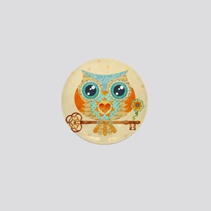 Owls Summer Love Letters Mini Button