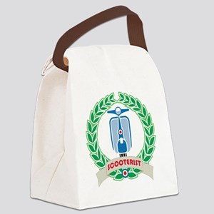 Mod Skinhead Scooterist Canvas Lunch Bag