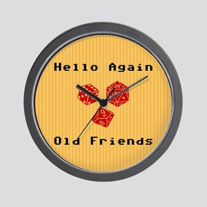 Greetings With Roleplaying Dice Wall Clock