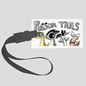 Possum Tails Logo Large Luggage Tag
