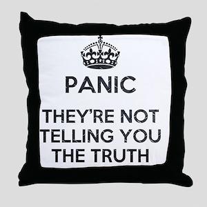 PANIC METAL Throw Pillow