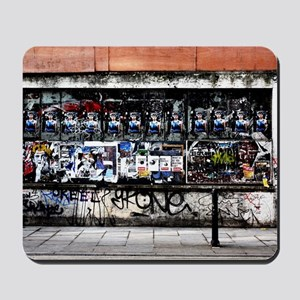 Old poster site in Brick Lane London Mousepad