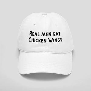 Men eat Chicken Wings Cap