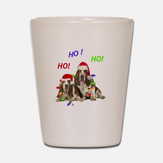 Basset Hound Ho Ho Ho Shot Glass