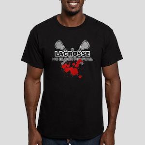 Lacrosse No Blood No Foul Men's Fitted T-Shirt (da