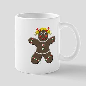Christmas Gingerbread Girl Mugs