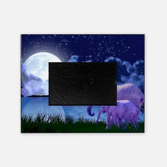 Contemplative Elephants Picture Frame