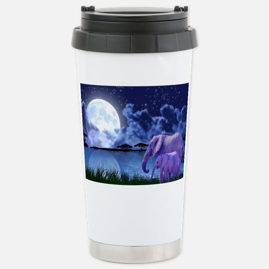 Contemplative Elephants Stainless Steel Travel Mug