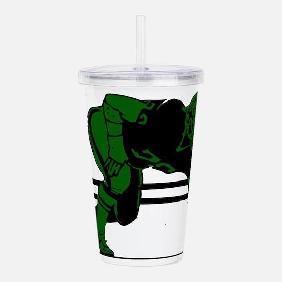 FOOTBALL -6- green Acrylic Double-wall Tumbler