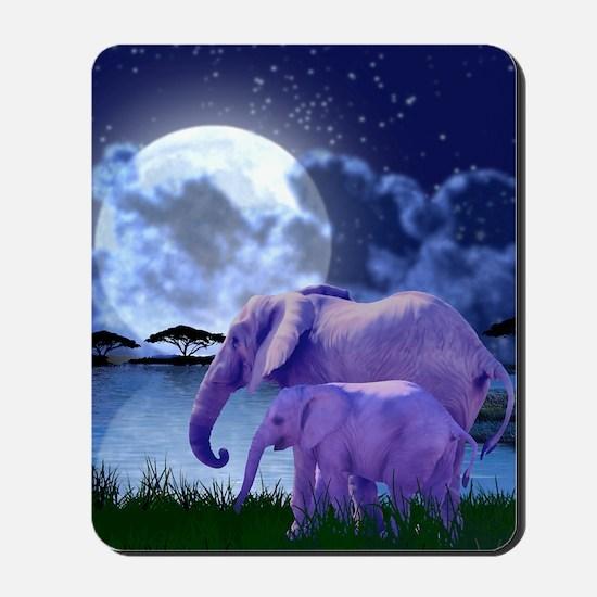 Contemplative Elephants Mousepad