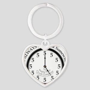 Always5oClock Heart Keychain