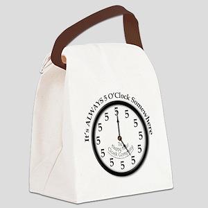 Always5oClock Canvas Lunch Bag