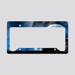 Wolf at Midnight License Plate Holder