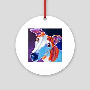 Greyhound #3 Round Ornament