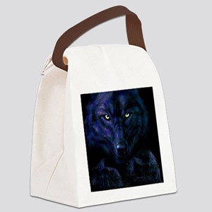 Midnight Wolf Canvas Lunch Bag
