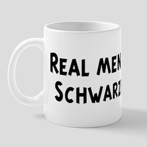 Men eat Schwarzbier Mug
