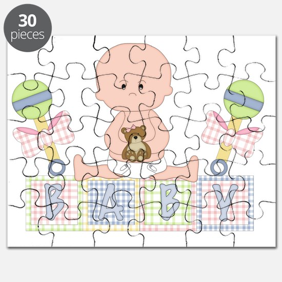 Cute Bald Baby Puzzle
