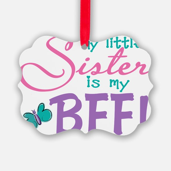 Little Sister BFF Butterfly Ornament