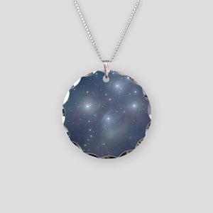 Cosmic Pleiades Necklace Circle Charm